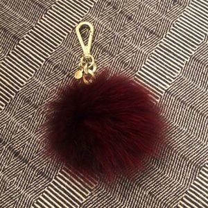 Michael Kors fox fur pom key chain accessory